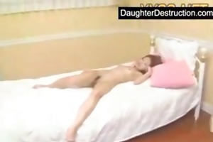 young daughter first time