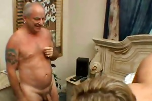 cuckold excited chick fucked by old rich guy