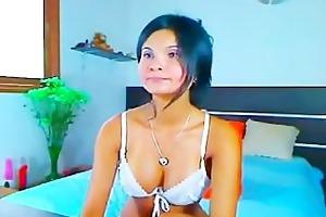 oriental milf teasing in brassiere and thong