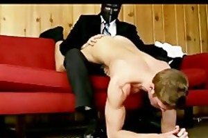 young gay chap spanked and punlished by masked man