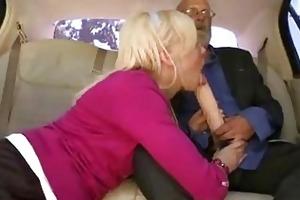 grandpa got head in a car