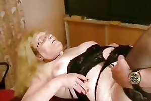 fat old german golden-haired drilled and cummed