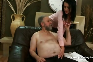 lascivious old guy bonks the trophy wife
