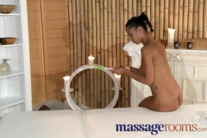 massage rooms charming black cuties love tunnel