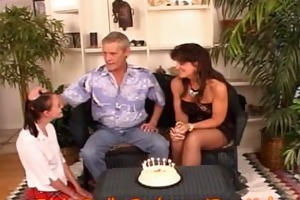 mom and step-dad celebrate floozy step-daughters