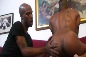 kamrun and cuba santos - black on dark fetish ass