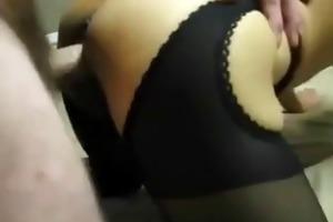 corpulent old guy fucks his asian slut