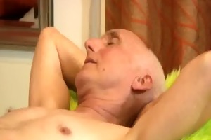 older man acquires a massage and cheerful ending