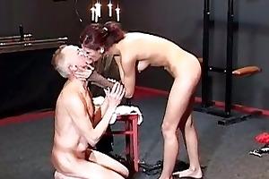 perverted redhead floozy tortures old slutty manj