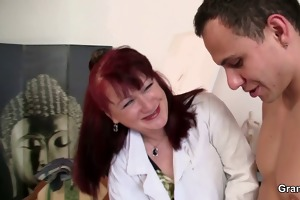 pretty lady likes painting and his cock