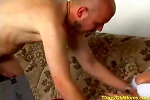 nasty old mamma gets drilled hard
