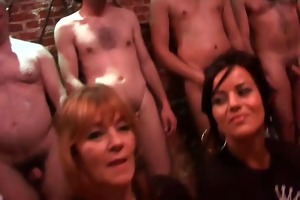 mother and not her daughter joins in bukkake party