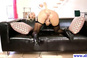 chic british playgirl fucked into ass by old chap