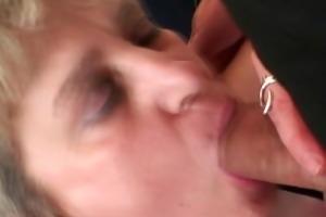 grandma takes two jocks after masturbation