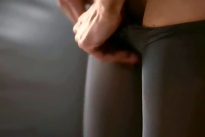 young playgirl receives strap on drilled