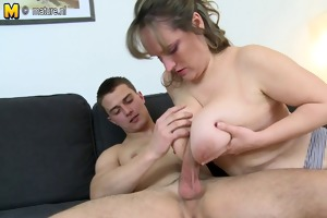 large breasted mother fucking with her toy chap