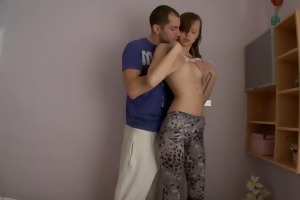 agreeable legal age teenager sister screwed in