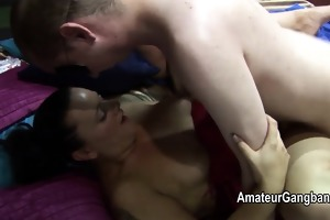 dirty older men use two chubby chicks