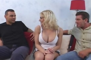 busty eve takes thick pecker