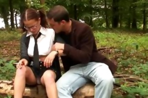 sexy young french schoolgirl fucks her bf in the