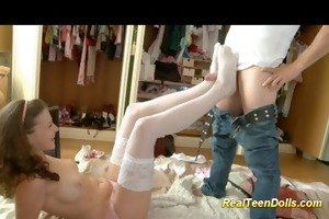 hot cute legal age teenager enjoys her first