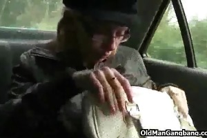 taxi oral sex and three-some