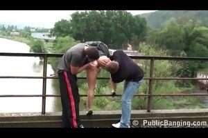 public river bridge three-some