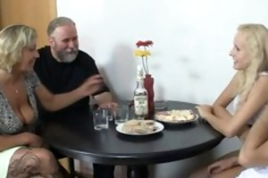 her cunt is drilled by her bfs parents