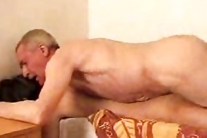 aged gay bangs youthful boi doggy style on bed